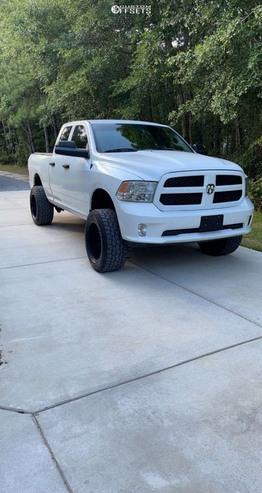 """2016 Ram 1500 Aggressive > 1"""" outside fender on 20x12 -44 offset Centerline Eliminator and 33""""x12.5"""" Toyo Tires Open Country A/t Ii on Suspension Lift 4"""" - Custom Offsets Gallery"""