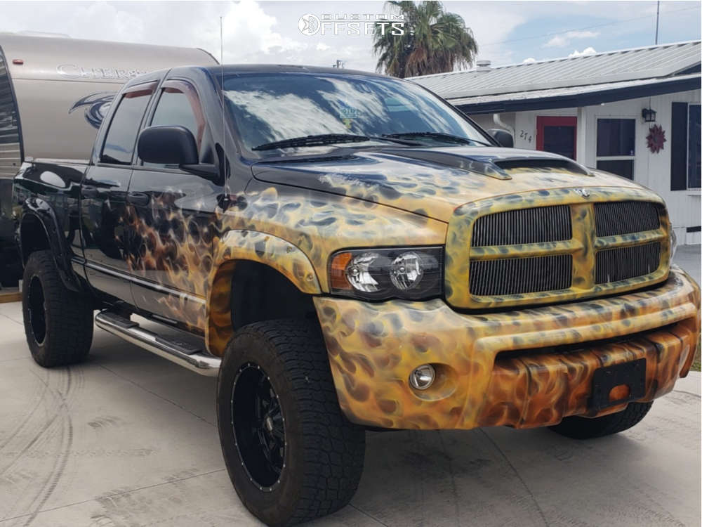 """2005 Dodge Ram 1500 Slightly Aggressive on 20x12 -44 offset Moto Metal Mo970 and 35""""x12.5"""" Nitto Terra Grappler G2 on Suspension Lift 6"""" - Custom Offsets Gallery"""