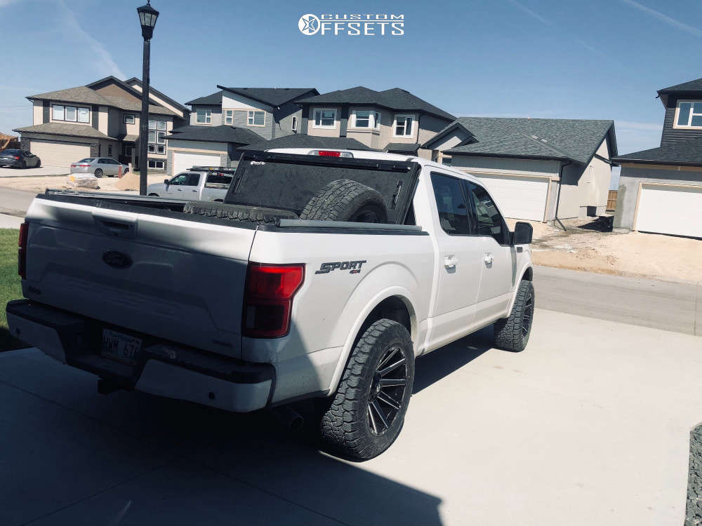 """2020 Ford F-150 Aggressive > 1"""" outside fender on 20x10 -19 offset Fuel Contra and 305/55 AMP Pro At on Stock - Custom Offsets Gallery"""