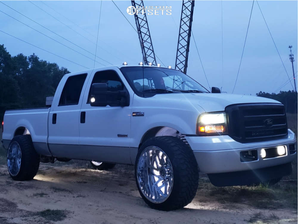 """2006 Ford F-250 Super Duty Super Aggressive 3""""-5"""" on 24x14 -76 offset TIS 544c and 35""""x12.5"""" Haida Mud Champ on Leveling Kit - Custom Offsets Gallery"""
