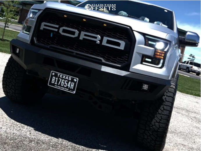 """2016 Ford F-150 Aggressive > 1"""" outside fender on 20x10 -18 offset Fuel Rebel and 35""""x12.5"""" Falken Wildpeak At3w on Suspension Lift 4"""" - Custom Offsets Gallery"""