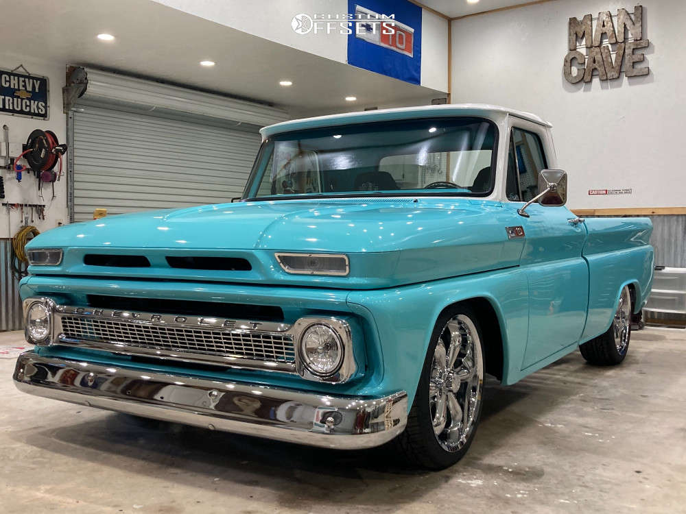 """1965 Chevrolet C10 Pickup Nearly Flush on 20x9 20 offset Vision Legend 6 and 27""""x9.5"""" Toyo Tires Extensa Hp Ii on Lowered 3F / 5R - Custom Offsets Gallery"""