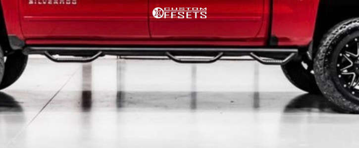 "2017 Chevrolet Silverado 1500 Aggressive > 1"" outside fender on 20x12 0 offset Fuel Boost and 35""x12.5"" Venom Terra Hunter X/T on Suspension Lift 6"" - Custom Offsets Gallery"