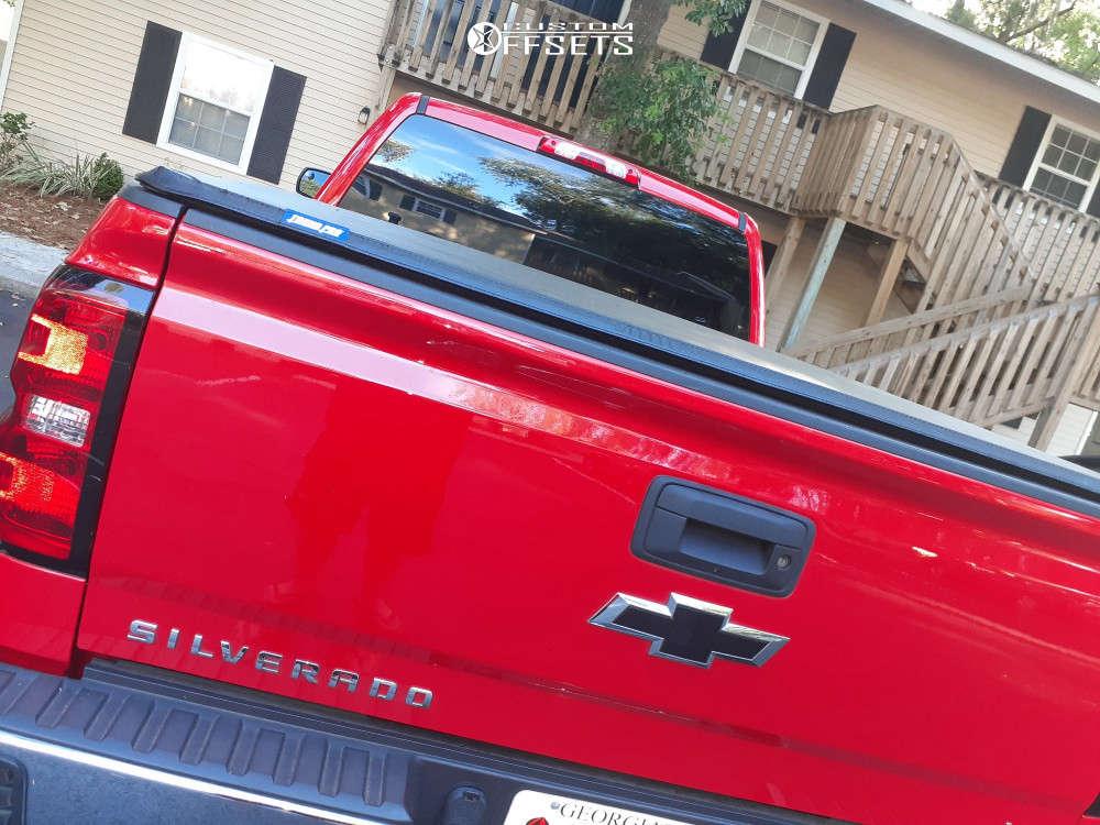 "2019 Chevrolet Silverado 1500 LD Aggressive > 1"" outside fender on 17x9 -12 offset Fuel Vapor & 275/70 BFGoodrich All Terrain T/a Ko2 on Stock Suspension - Custom Offsets Gallery"