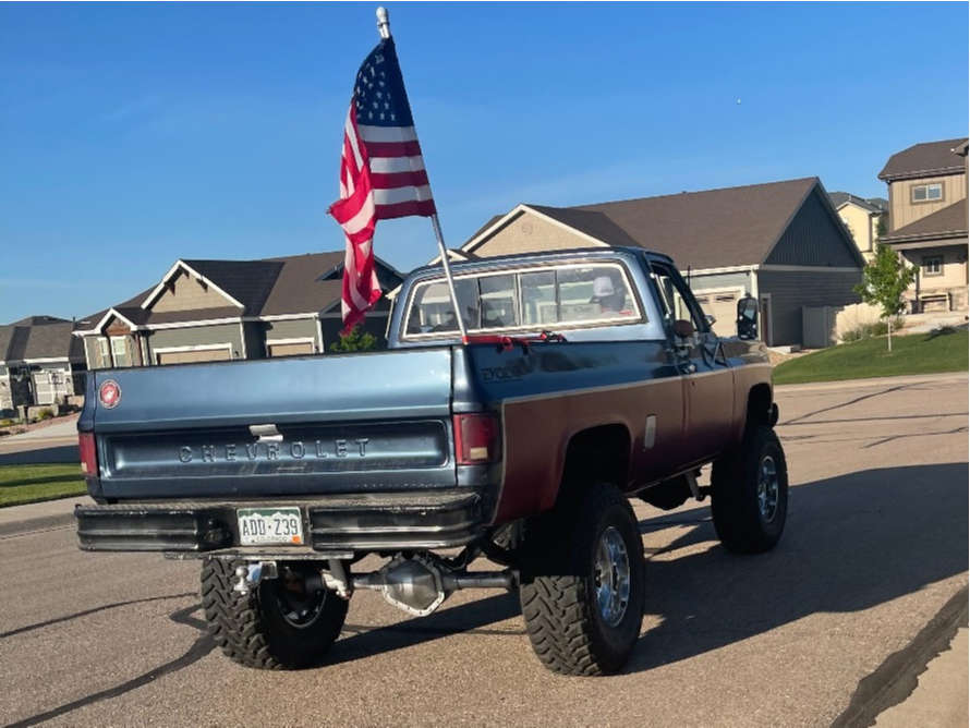 """1979 Chevrolet K20 Slightly Aggressive on 18x12 -44 offset Moto Metal Mo962 and 38""""x12.5"""" Toyo Tires Open Country M/t on Suspension Lift 8"""" - Custom Offsets Gallery"""