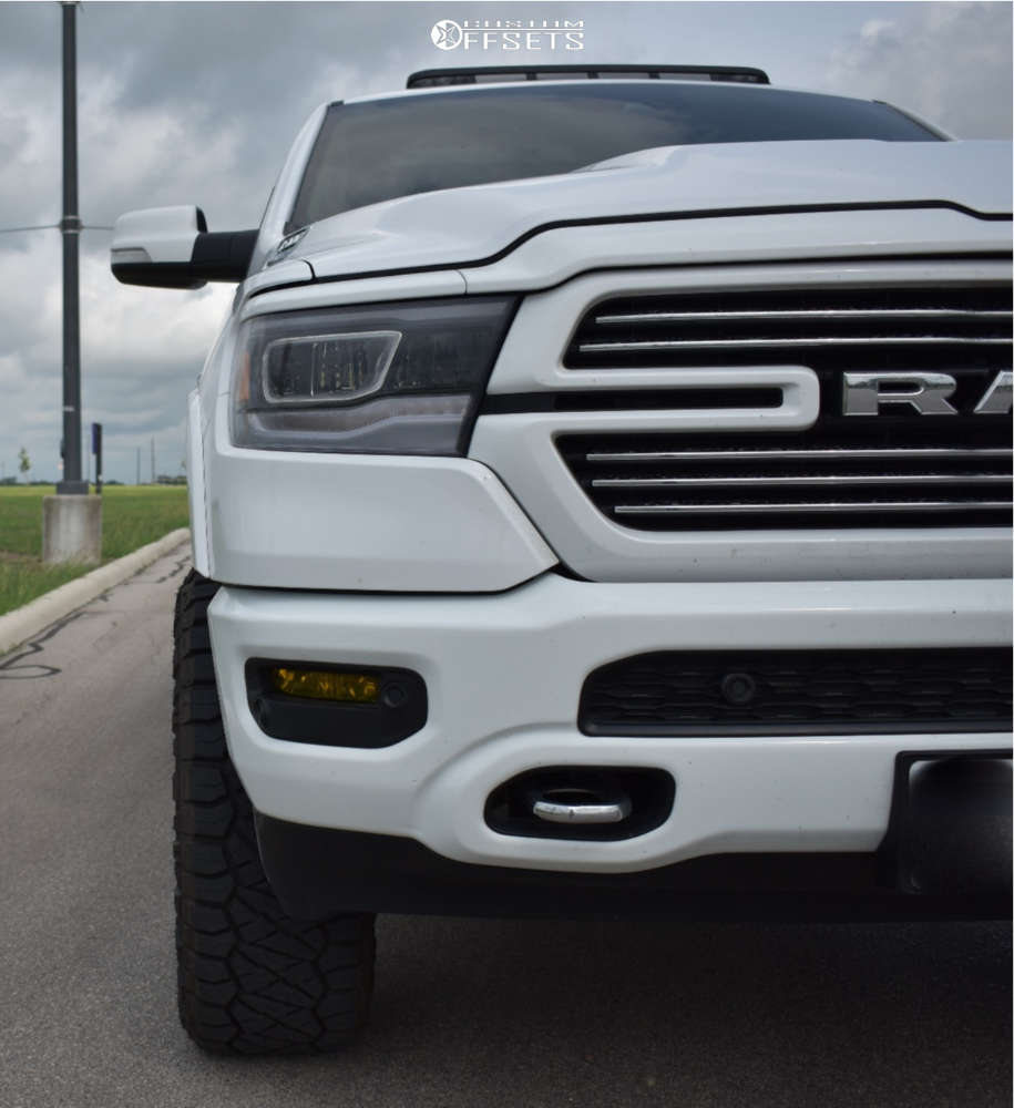 """2021 Ram 1500 Aggressive > 1"""" outside fender on 20x10 -18 offset Fuel Rebel and 35""""x12.5"""" Nitto Ridge Grapplers on Suspension Lift 3.5"""" - Custom Offsets Gallery"""