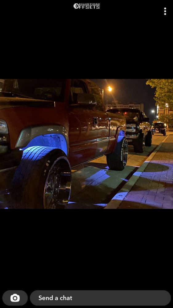 "2001 Chevrolet Silverado 1500 Super Aggressive 3""-5"" on 24x14 -76 offset Scorpion Sc28 and 32""x12.5"" Altenzo Sport Comforter on Stock Suspension - Custom Offsets Gallery"