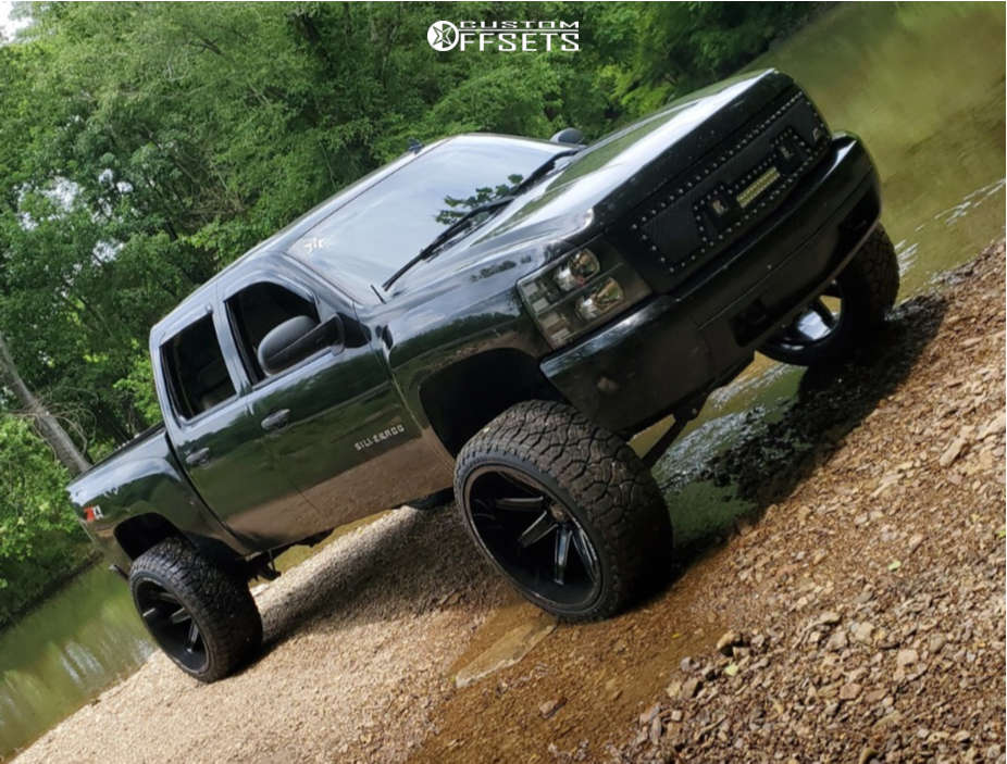 "2008 Chevrolet Silverado 1500 Super Aggressive 3""-5"" on 26x14 -76 offset Axe Offroad Artemis and 37""x13.5"" Venom Power Terra Hunter R/t Plus on Suspension Lift 7.5"" - Custom Offsets Gallery"