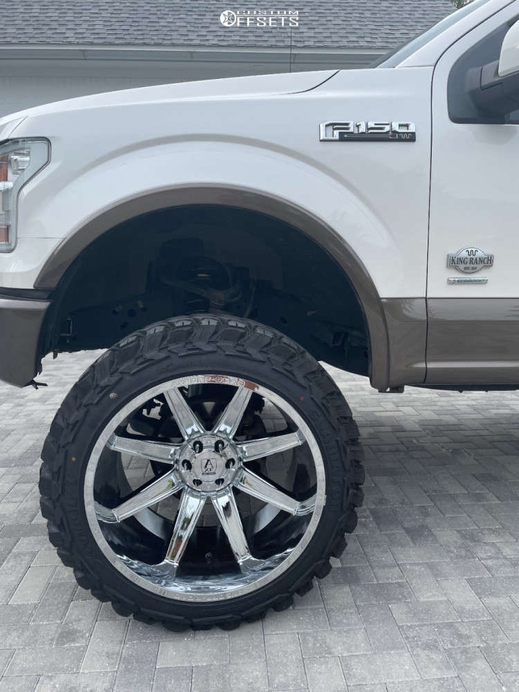 """2015 Ford F-150 Super Aggressive 3""""-5"""" on 24x14 -75.946 offset Axe Offroad Artemis and 37""""x13.5"""" Gladiator Xcomp Mt on Suspension Lift 8"""" - Custom Offsets Gallery"""