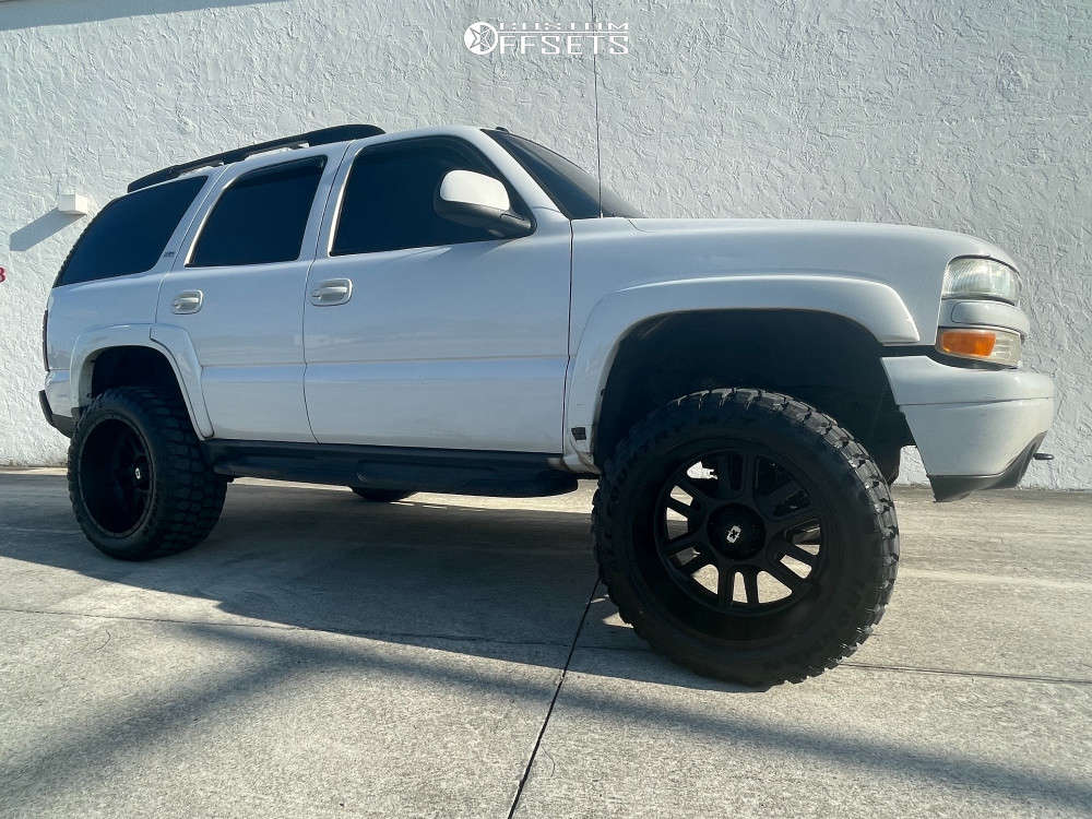 """2005 Chevrolet Tahoe Super Aggressive 3""""-5"""" on 22x12 -51 offset Vision Split and 35""""x12.5"""" Ironman All Country M/t on Suspension Lift 6"""" - Custom Offsets Gallery"""