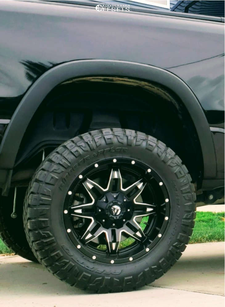 """2020 Ram 1500 Aggressive > 1"""" outside fender on 20x10 -24 offset Fuel Lethal D567 and 35""""x12.5"""" Nitto Ridge Grappler on Suspension Lift 6"""" - Custom Offsets Gallery"""