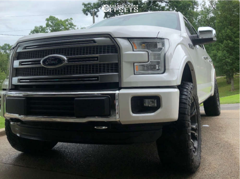 """2016 Ford F-150 Aggressive > 1"""" outside fender on 20x10 0 offset Fuel Vapor and 295/65 Nitto Ridge Grappler on Leveling Kit - Custom Offsets Gallery"""