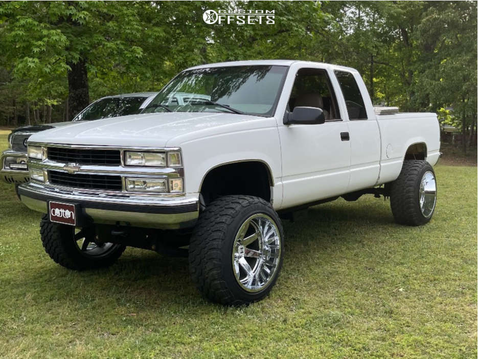 """1998 Chevrolet K1500 Super Aggressive 3""""-5"""" on 22x14 -44 offset Hostile Vulcan and 35""""x12.5"""" Nitto Other on Suspension Lift 6"""" - Custom Offsets Gallery"""