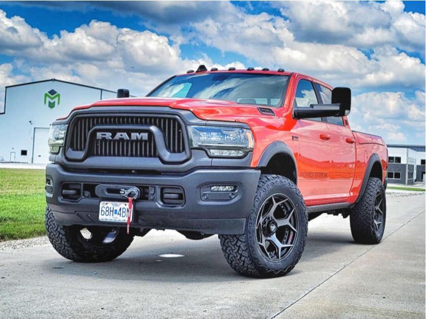 "2021 Ram 2500 Aggressive > 1"" outside fender on 22x10 -24 offset 4Play 4p50 and 37""x13.5"" Venom Power Terrain Hunter Xt on Stock Suspension - Custom Offsets Gallery"