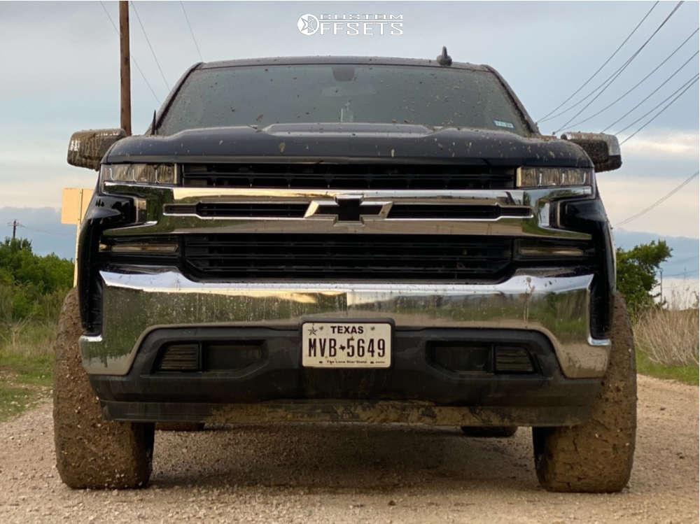 "2019 Chevrolet Silverado 1500 Super Aggressive 3""-5"" on 20x12 -44 offset Hostile H115 and 33""x11.5"" Nitto Ridge Grappler on Suspension Lift 6.5"" - Custom Offsets Gallery"