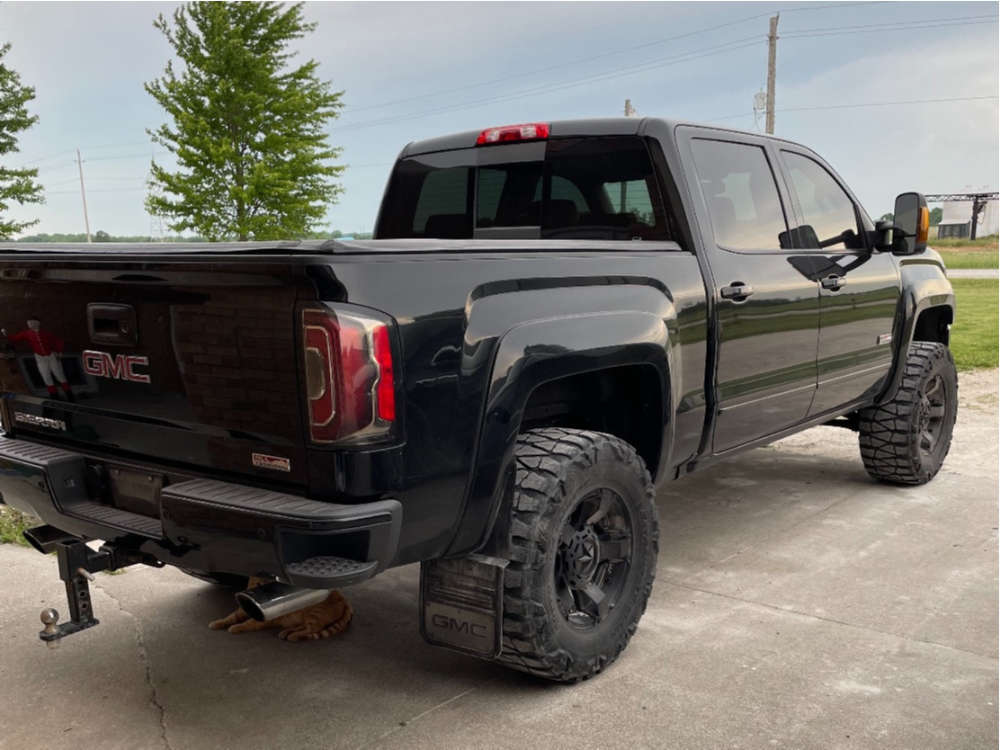 """2017 GMC Sierra 1500 Aggressive > 1"""" outside fender on 17x12 -14 offset American Elite Eagle & 35""""x12.5"""" Nitto Mud Grappler on Suspension Lift 4"""" - Custom Offsets Gallery"""
