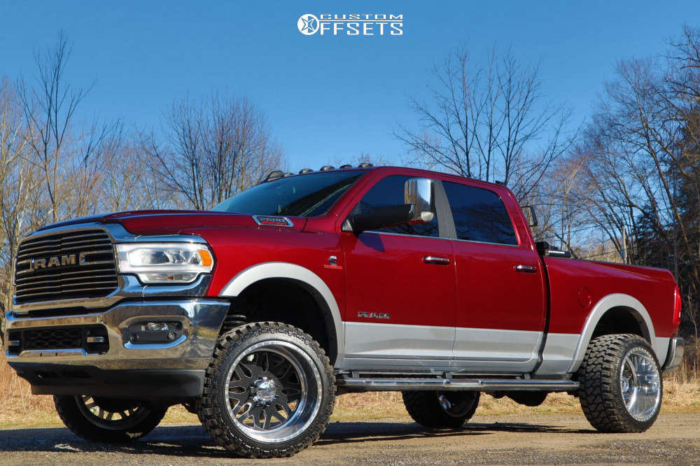 """2019 Ram 2500 Super Aggressive 3""""-5"""" on 22x14 -73 offset American Force Trax Ss & 33""""x13.5"""" Fury Country Hunter Mt on Leveling Kit - Custom Offsets Gallery"""