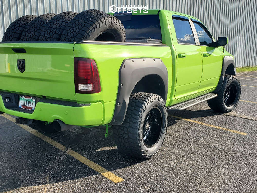 """2017 Ram 1500 Aggressive > 1"""" outside fender on 20x12 -51 offset ARKON OFF-ROAD Crown Series Triumph & 35""""x15.5"""" Mickey Thompson Baja Boss A/t on Suspension Lift 6"""" - Custom Offsets Gallery"""