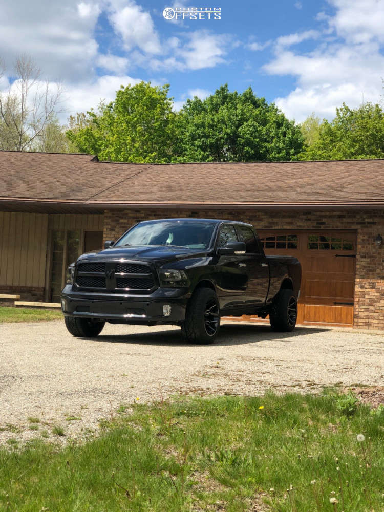 """2016 Ram 1500 Super Aggressive 3""""-5"""" on 20x12 -51 offset ARKON OFF-ROAD Roosevelt and 305/50 Nitto Nt420v on Stock Suspension - Custom Offsets Gallery"""
