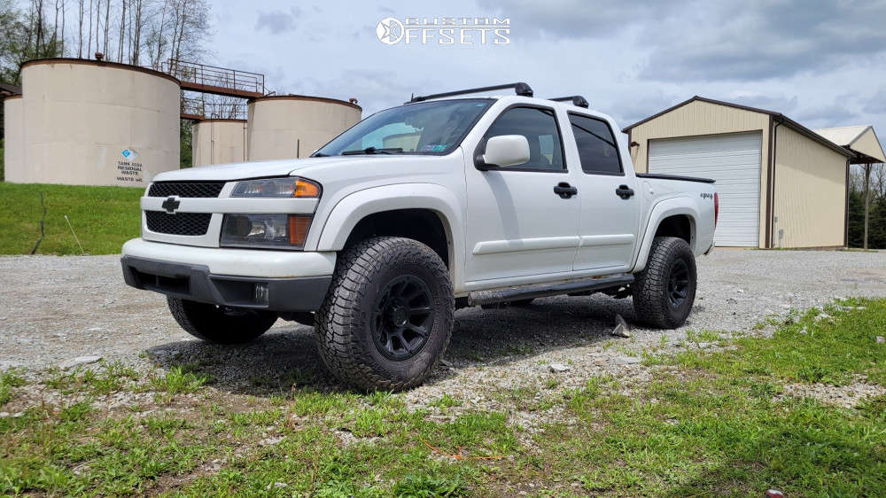 "2009 Chevrolet Colorado Aggressive > 1"" outside fender on 16x8 0 offset Vision Turbine & 32""x10.5"" Falken Wildpeak At3w on Suspension Lift 2.5"" - Custom Offsets Gallery"