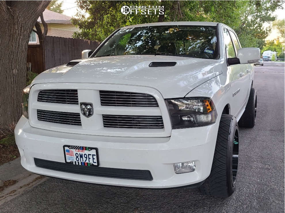 """2012 Ram 1500 Aggressive > 1"""" outside fender on 22x12 -44 offset RBP 66r and 305/45 Nitto Nt420s on Stock Suspension - Custom Offsets Gallery"""