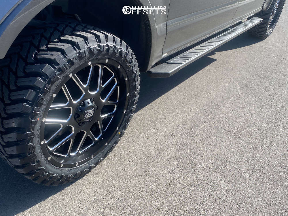 """2018 Ford F-150 Aggressive > 1"""" outside fender on 22x10 0 offset XD Xd820 and 33""""x12.5"""" Atturo Trail Blade Mt on Leveling Kit - Custom Offsets Gallery"""