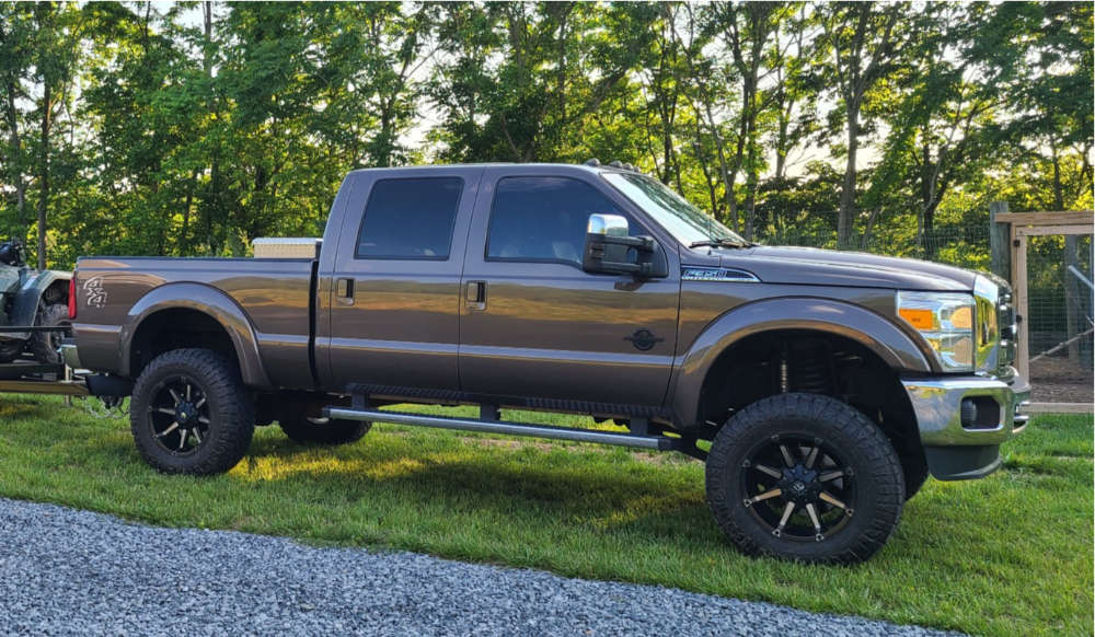 """2016 Ford F-350 Super Duty Aggressive > 1"""" outside fender on 20x10 0 offset Fuel Coupler and 37""""x12.5"""" Nitto Ridge Grappler on Suspension Lift 4.5"""" - Custom Offsets Gallery"""