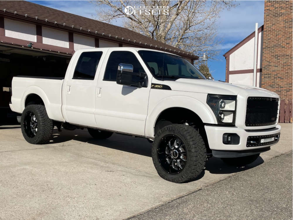 """2015 Ford F-350 Super Duty Aggressive > 1"""" outside fender on 22x10.5 -24 offset BMF Payback and 35""""x12.5"""" Nitto Ridge Grappler on Suspension Lift 2.5"""" - Custom Offsets Gallery"""