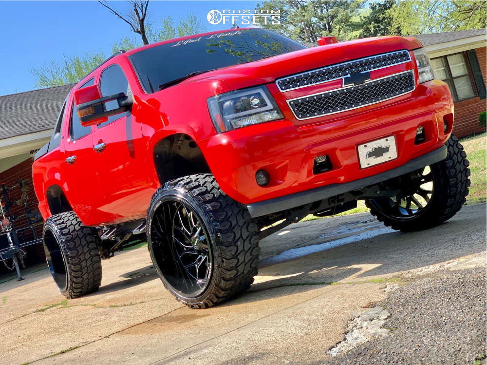 """2011 Chevrolet Avalanche Super Aggressive 3""""-5"""" on 26x14 -76 offset Savage Sa873 & 35""""x13.5"""" Gladiator Xcomp Mt on Suspension Lift 7.5"""" - Custom Offsets Gallery"""