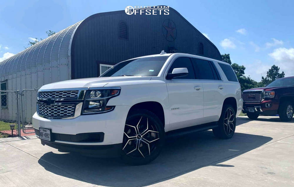2018 Chevrolet Tahoe Nearly Flush on 22x9 35 offset MKW M121 and 285/45 Cooper Discoverer At3 4s on Stock Suspension - Custom Offsets Gallery