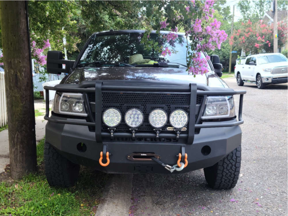 """2008 Ford F-150 Aggressive > 1"""" outside fender on 17x9 -12 offset Fuel Vengeance and 35""""x11.5"""" Toyo Tires Open Country A/t Ill on Stock Suspension - Custom Offsets Gallery"""