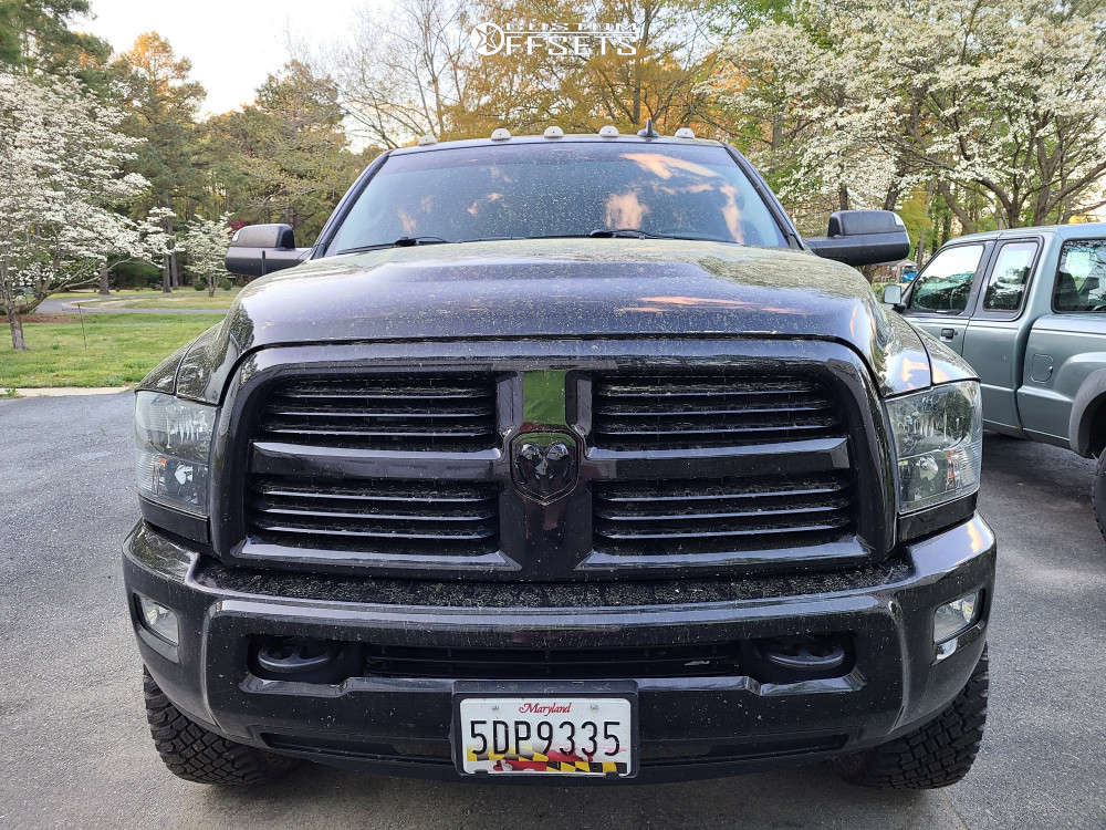 """2015 Ram 2500 Aggressive > 1"""" outside fender on 20x10 -19 offset Ballistic 959 and 35""""x12.5"""" Atturo Trail Blade AT on Leveling Kit - Custom Offsets Gallery"""