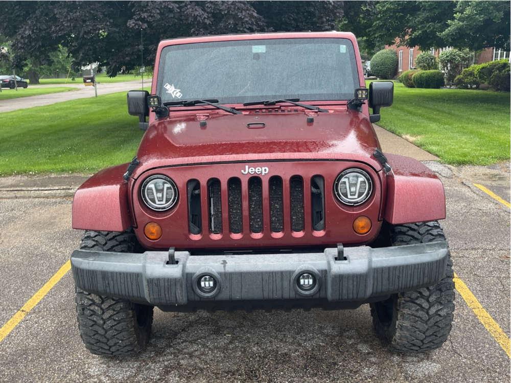 "2007 Jeep Wrangler JK Aggressive > 1"" outside fender on 20x10 -12 offset RBP 81r and 33""x12.5"" RBP Repulsor Mt on Suspension Lift 2.5"" - Custom Offsets Gallery"