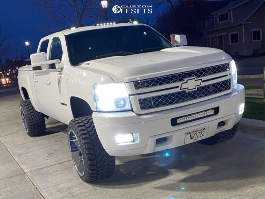 """2013 Chevrolet Silverado 2500 HD Super Aggressive 3""""-5"""" on 22x14 -81 offset RBP Glock and 33""""x14.5"""" Fury Country Hunter Mt2 on Stock Suspension - Custom Offsets Gallery"""