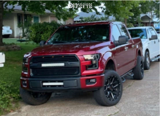 """2015 Ford F-150 Aggressive > 1"""" outside fender on 20x10 12 offset Wicked Offroad W903 and 275/55 Thunderer Ranger A/t on Suspension Lift 4.5"""" - Custom Offsets Gallery"""