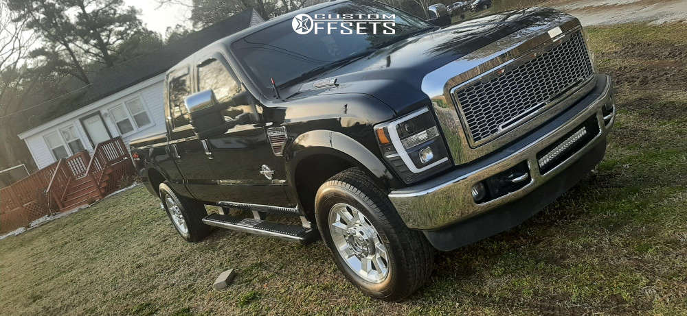 """2009 Ford F-250 Super Duty Aggressive > 1"""" outside fender on 22x12 51 offset 305 Forged Ft107 and 35""""x12.5"""" Altenzo Sport Comforter on Stock - Custom Offsets Gallery"""