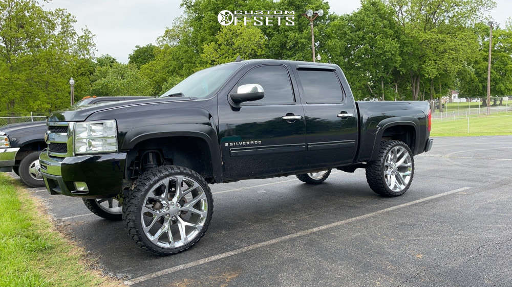 """2009 Chevrolet Silverado 1500 Nearly Flush on 26x10 24 offset Oe Performance 176 Gm Accessory and 35""""x12.5"""" RBP Repulsor Mt on Suspension Lift 7.5"""" - Custom Offsets Gallery"""