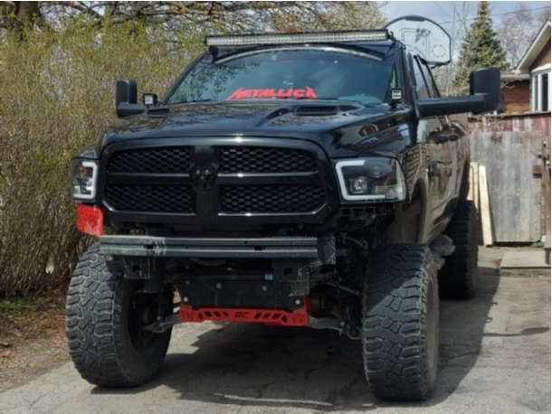 """2019 Ram 1500 Classic Aggressive > 1"""" outside fender on 20x12 -44 offset Fuel Stroke and 38""""x13.5"""" Cooper Discoverer Stt Pro on Suspension Lift 12"""" - Custom Offsets Gallery"""