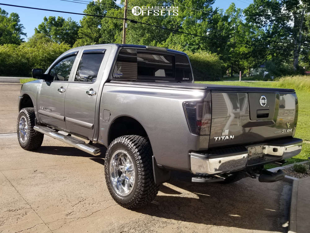 """2012 Nissan Titan Aggressive > 1"""" outside fender on 20x10 -44 offset Fuel Hosatge and 35""""x12.5"""" Atturo Trail Blade Xt on Suspension Lift 6"""" - Custom Offsets Gallery"""