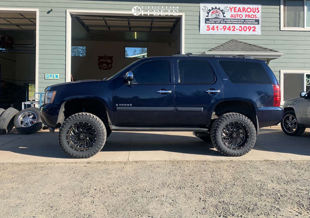"""2007 Chevrolet Tahoe Super Aggressive 3""""-5"""" on 20x12 -19 offset Xtreme Force Xf6 and 35""""x12.5"""" Atturo Trail Blade Mt on Suspension Lift 7.5"""" - Custom Offsets Gallery"""