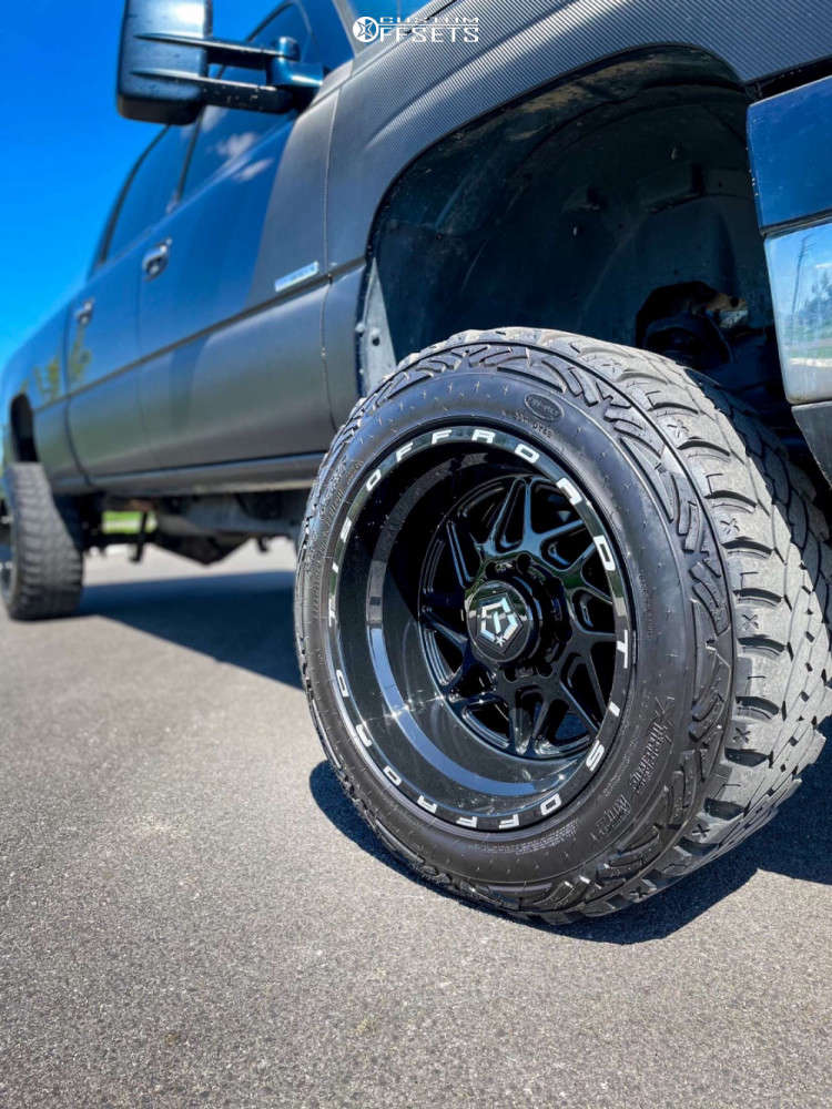 """2006 Chevrolet Silverado 2500 HD Super Aggressive 3""""-5"""" on 20x12 -44 offset TIS 552b and 295/55 Pro Comp Xtreme Mt2 on Suspension Lift 6"""" - Custom Offsets Gallery"""