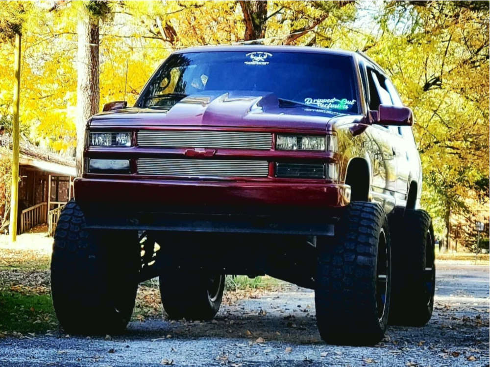 """1999 Chevrolet Tahoe Super Aggressive 3""""-5"""" on 24x14 -81 offset TIS 544bm and 40""""x15.5"""" Ironman All Country Mt on Suspension Lift 6"""" & Body 3"""" - Custom Offsets Gallery"""