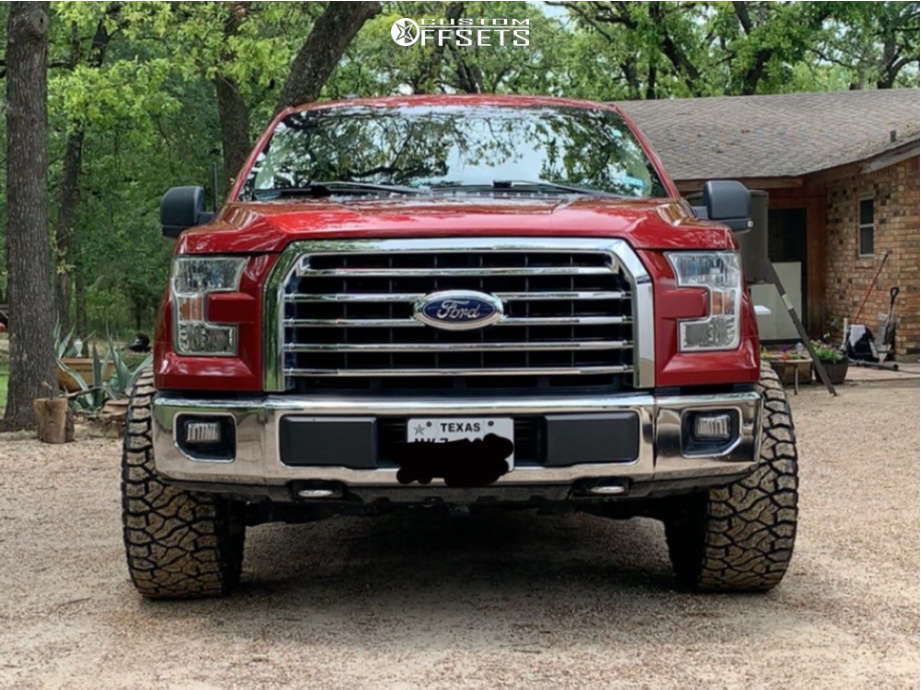 """2015 Ford F-150 Super Aggressive 3""""-5"""" on 20x12 -51 offset Vision Rocker and 33""""x12.5"""" Venom Power Terra Hunter R/t on Leveling Kit - Custom Offsets Gallery"""
