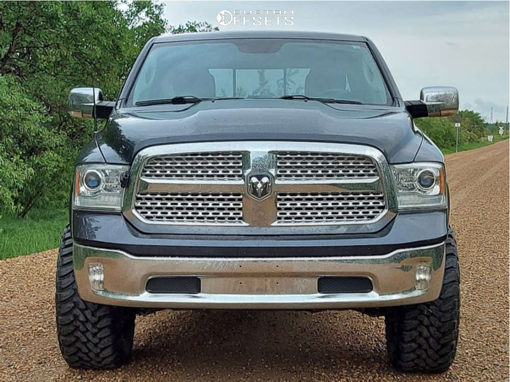 """2016 Ram 1500 Super Aggressive 3""""-5"""" on 20x10 -24 offset GT Offroad Strike and 35""""x13.5"""" Toyo Tires Open Country M/t on Suspension Lift 4"""" - Custom Offsets Gallery"""