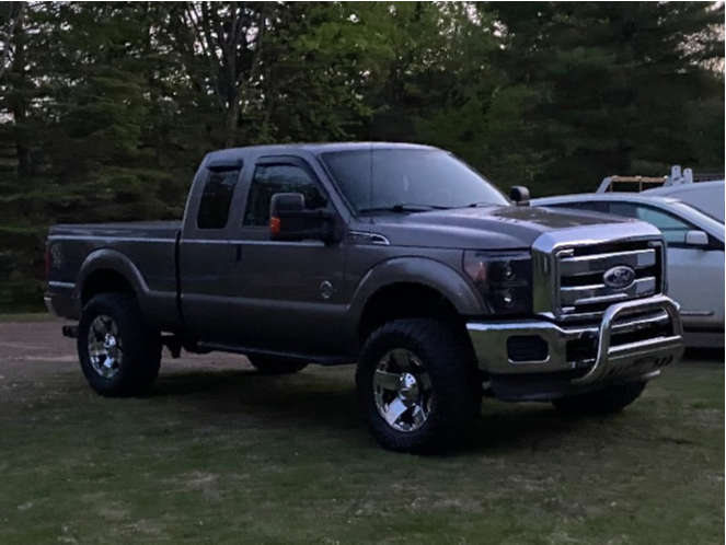 """2011 Ford F-250 Super Duty Slightly Aggressive on 20x13 0 offset XD Rockstar and 37""""x13.5"""" Toyo Open Country M/t on Suspension Lift 3.5"""" - Custom Offsets Gallery"""