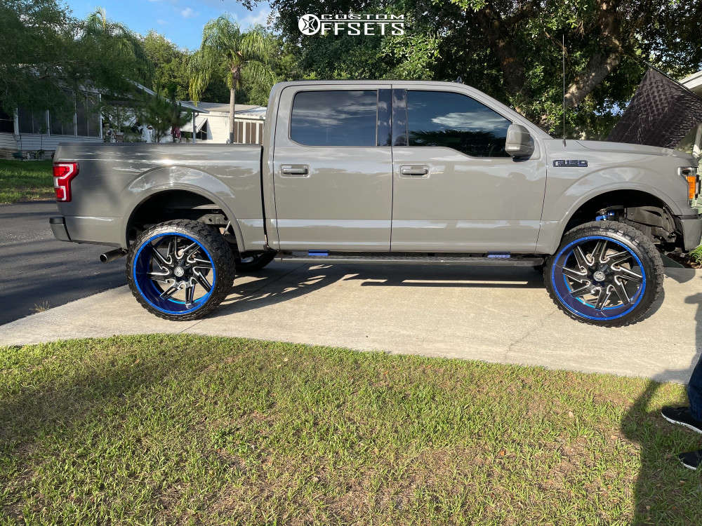 """2018 Ford F-150 Super Aggressive 3""""-5"""" on 26x12 -44 offset Hardcore Offroad Hc05 and 35""""x13.5"""" Fury Offroad Country Hunter M/t on Suspension Lift 6"""" - Custom Offsets Gallery"""
