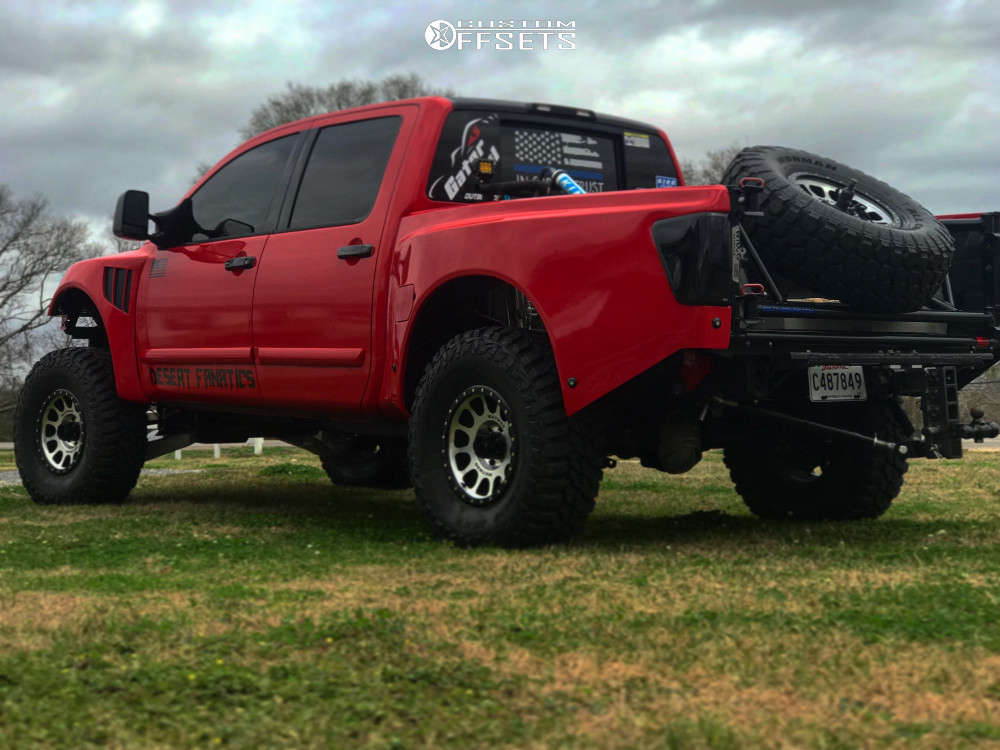 """2005 Nissan Titan Super Aggressive 3""""-5"""" on 17x9 0 offset Method Nv and 37""""x12.5"""" Mastercraft Courser Mxt on Suspension Lift 4.5"""" - Custom Offsets Gallery"""