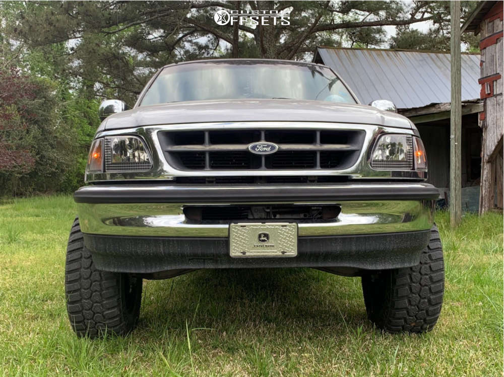 """1998 Ford F-150 Aggressive > 1"""" outside fender on 18x9 12 offset XD Xd133 & 33""""x12.5"""" Rbp Repulsor Mt Rx on Suspension Lift 5.5"""" - Custom Offsets Gallery"""