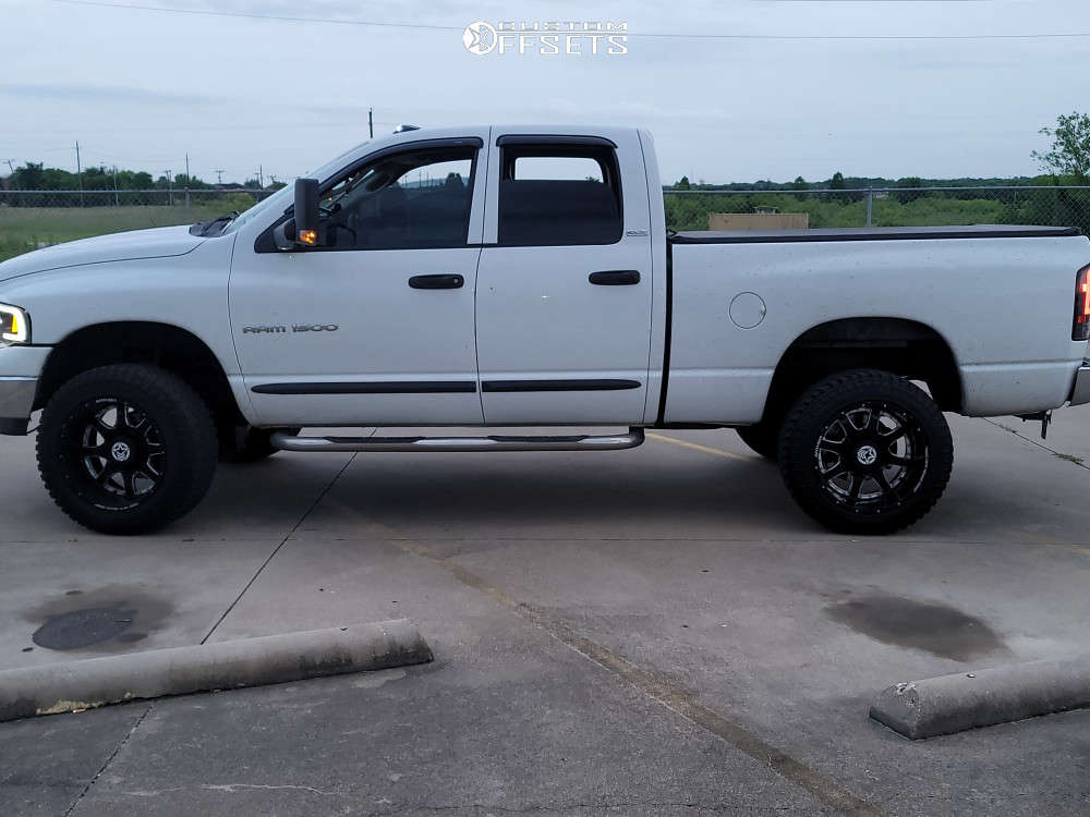 """2002 Dodge Ram 1500 Aggressive > 1"""" outside fender on 20x12 -44 offset Anthem Off-Road Commander & 305/55 Atturo Trail Blade Xt on Suspension Lift 6"""" - Custom Offsets Gallery"""