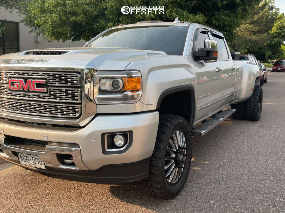 """2018 GMC Sierra 3500 HD Super Aggressive 3""""-5"""" on 22x8.5 0 offset Cali Off-Road Summit and 35""""x12.5"""" Federal Xplora M/t on Suspension Lift 3.5"""" - Custom Offsets Gallery"""